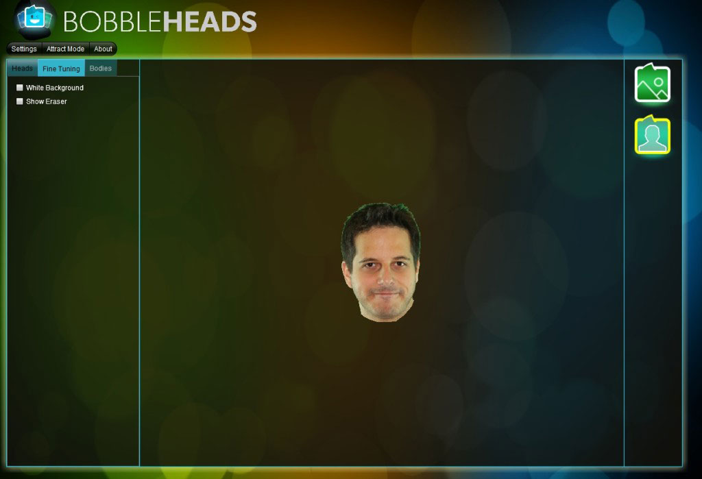 Bobble Heads Station: An example of a head detection result