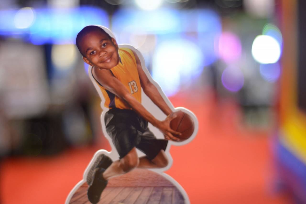 Bobble Heads Station: Close-up on a Basketball Player Figure Favor