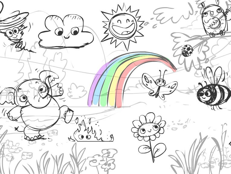 Interactive Story, Sketch: The Making of the Out in the Fields World