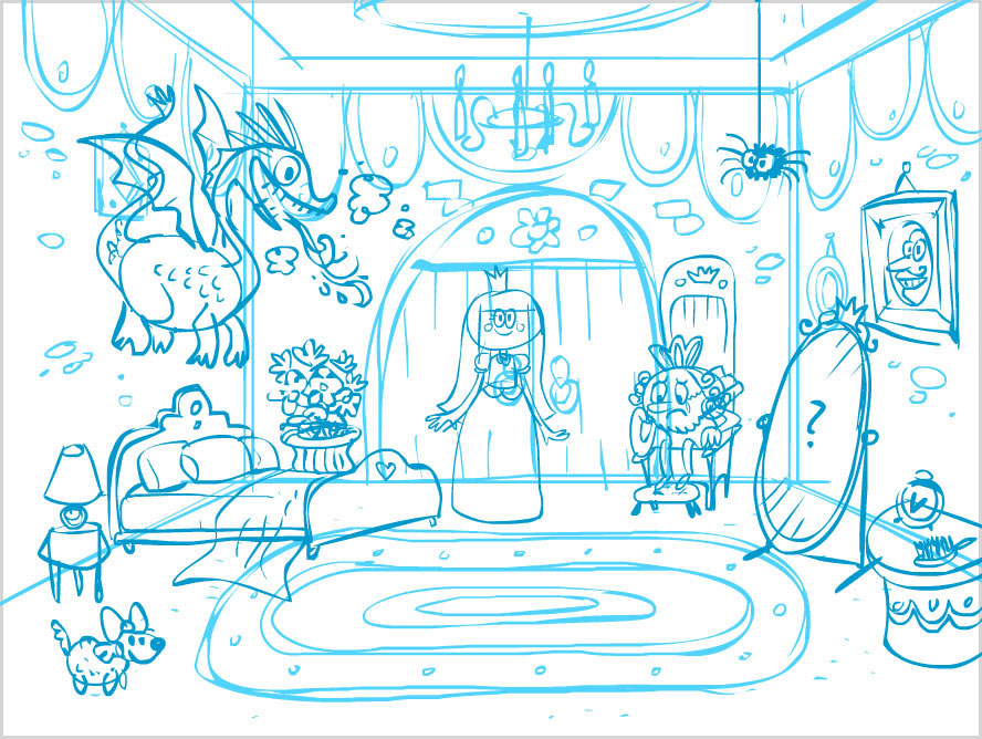 Interactive Story, Sketch: The Making of the Princes Castle World