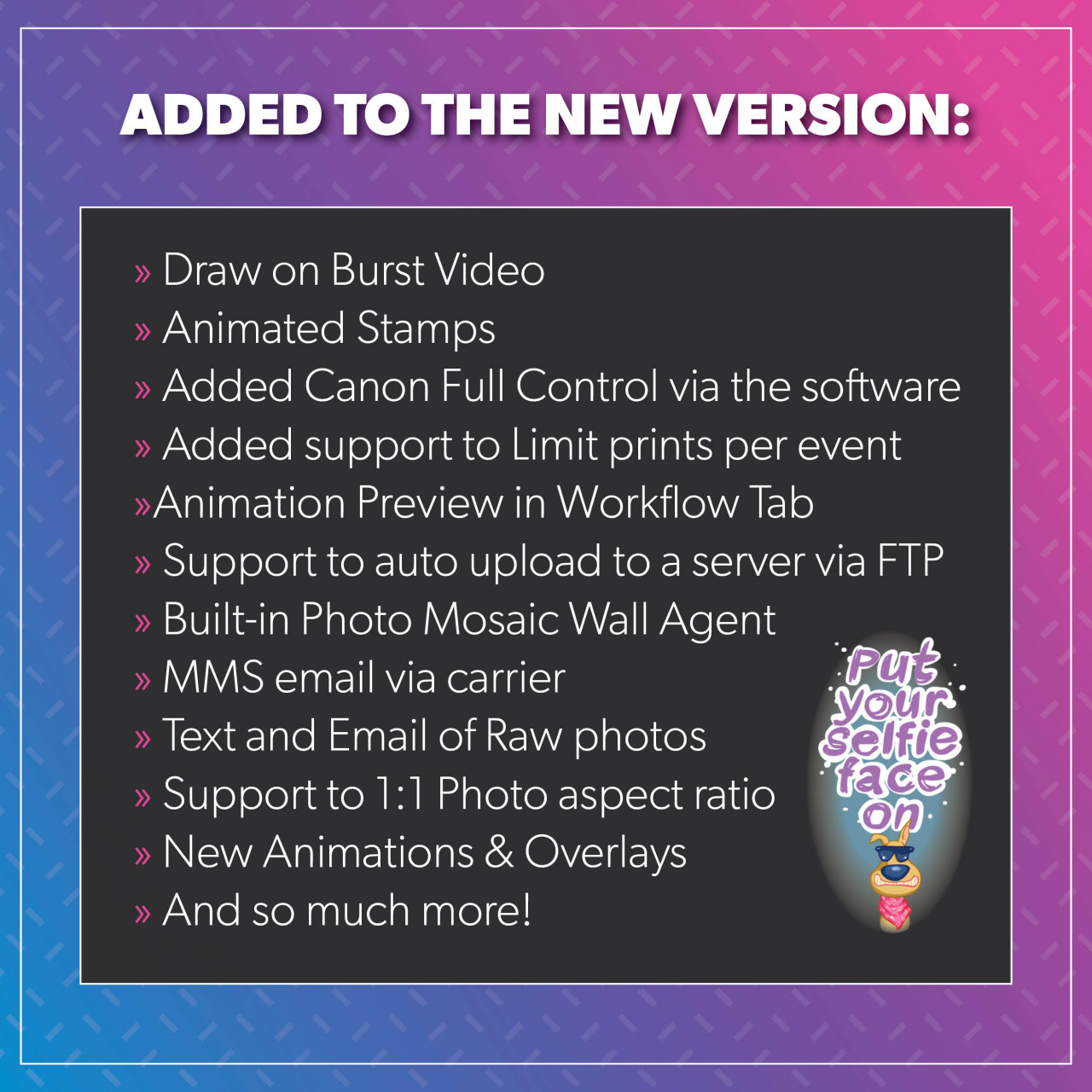 Mirror Me Software V10, Release Highlights