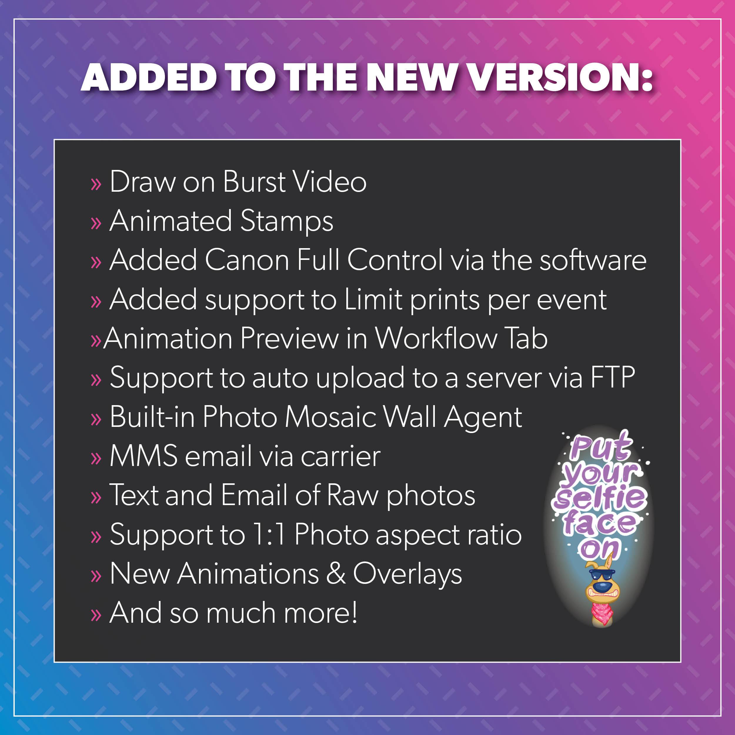 Mirror Me Software V10, Release Highlights